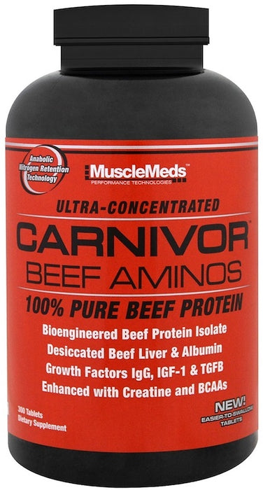 Muscle Meds Carnivor Beef Aminos 300 Tab - Supplement Xpress Online