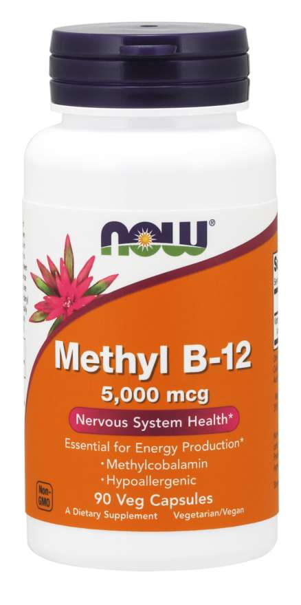 Now Foods Methyl B-12 5000 mcg 90 veg caps - Supplement Xpress Online