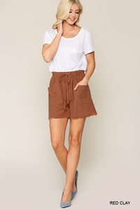 Jamaican Me Crazy Shorts-Red Clay