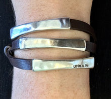 Load image into Gallery viewer, UNO DE 50 Blackout Bracelet-Silver/Brown