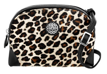 Load image into Gallery viewer, BRIGHTON Ferrara Sauvage Large Hair-On Cross Body Pouch