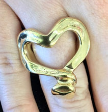 Load image into Gallery viewer, UNO DE 50 Nailed Heart Ring- Gold