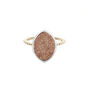 SHE'S A GEM RING-Rose Drusy