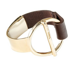 UNO DE 50 Switch On-Brown Leather & Gold