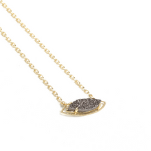 Load image into Gallery viewer, SHE'S A GEM NECKLACE-Grey Drusy