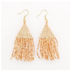 Petite Fringe Earrings-6 Colors