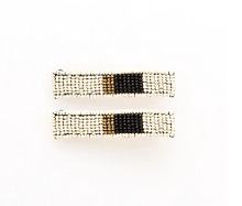 Load image into Gallery viewer, Beaded Hair Clip (Set of 2)- 10 Colorways
