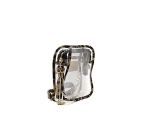 Leopard Clear GameDay Purse