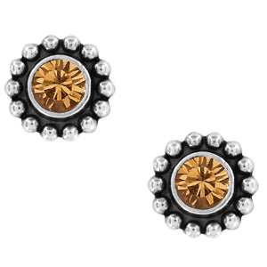 BRIGHTON Twinkle Mini Post Earrings-Topaz