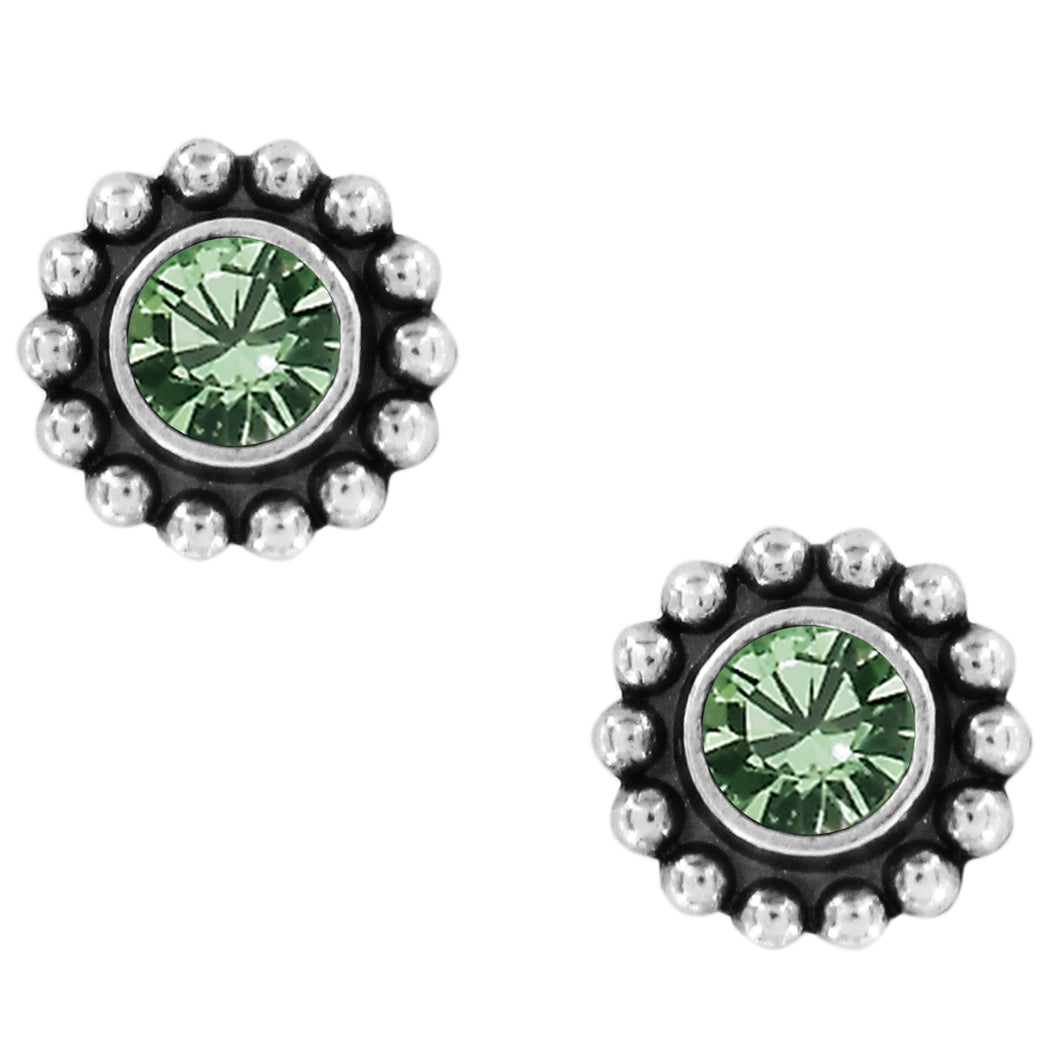 BRIGHTON Twinkle Mini Post Earrings-Peridot