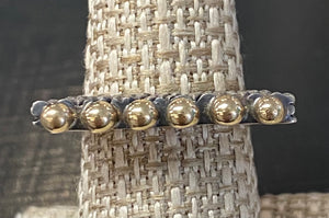 Dian Malouf Crosshatch stack ring with 14k