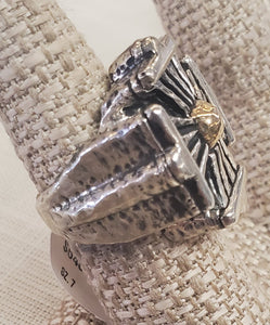 DIAN MALOUF Sunray Cross Ring