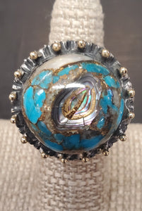 Dian Malouf large stone ring