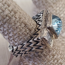 Load image into Gallery viewer, DIAN MALOUF Blue Topaz Ring