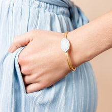 Load image into Gallery viewer, SHE'S A GEM BANGLE-White Drusy