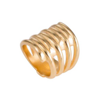 Load image into Gallery viewer, UNO DE 50 Tornado Ring-gold