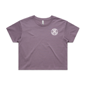 Wilkins Training & Nutrition Crop Tee - Mauve
