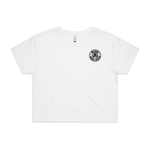 Wilkins Training & Nutrition Crop Tee - White