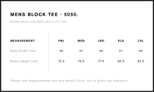 Load image into Gallery viewer, BHBA Block Tee Shirt - Black