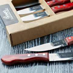 SET OF PERRY'S STEAK KNIVES