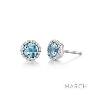 Aquamarine Earrings, March Birthstone