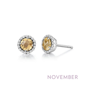 Citrine Earrings, November Birthstone