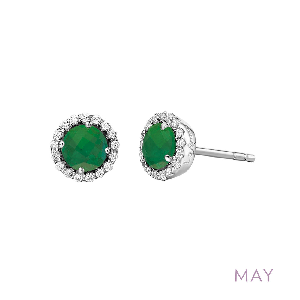 Emerald Earrings, May Birthstone