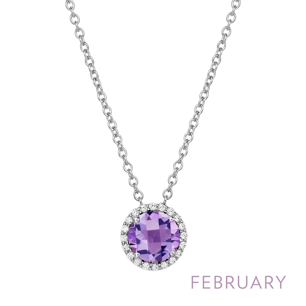 Amethyst Necklace, February Birthstone