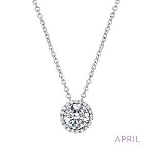 Diamond Necklace, April Birthstone