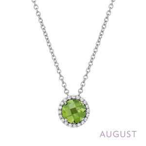 Peridot Necklace, October Birthstone