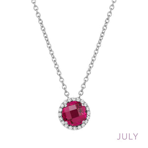 Ruby Necklace, July Birthstone