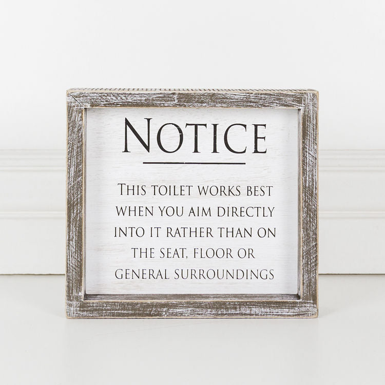 This Toilet Works Best, Framed Sign