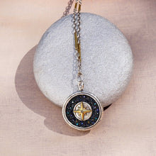 Load image into Gallery viewer, Inner Compass Pendant - Sterling Sliver & Brass, 1.38""