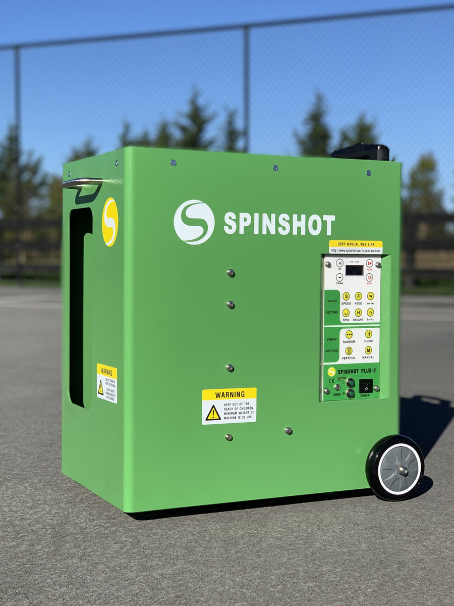 Spinshot Plus-2 Tennis Ball Machine - Spinshot Sports US