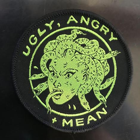 Embroidered Patch: Ugly, Angry + Mean Medusa by Jenn Woodall