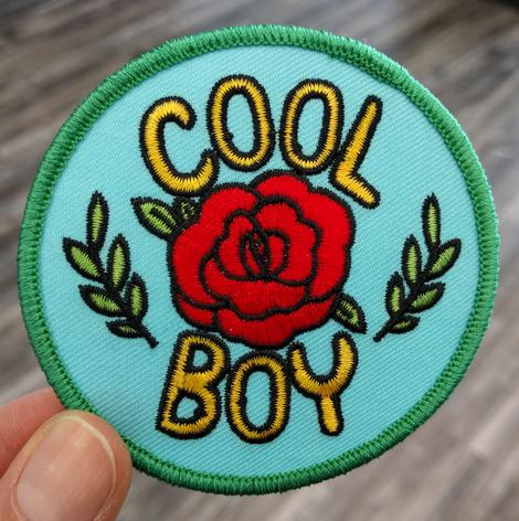 Embroidered Patch: Cool Boy (Rose) by Benji Nate