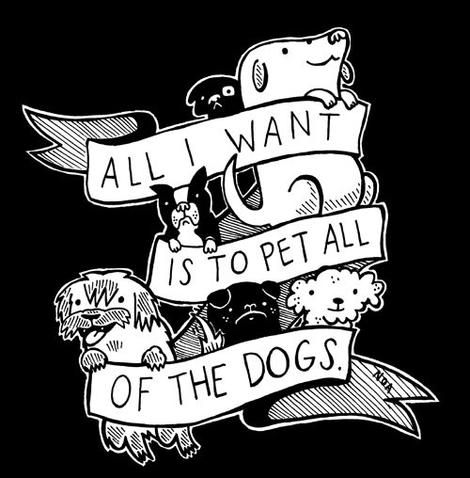 Sticker: All I Want Is To Pet All Of The Dogs - by Nation Of Amanda