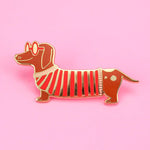Little Weiner Pin by Little Arrow