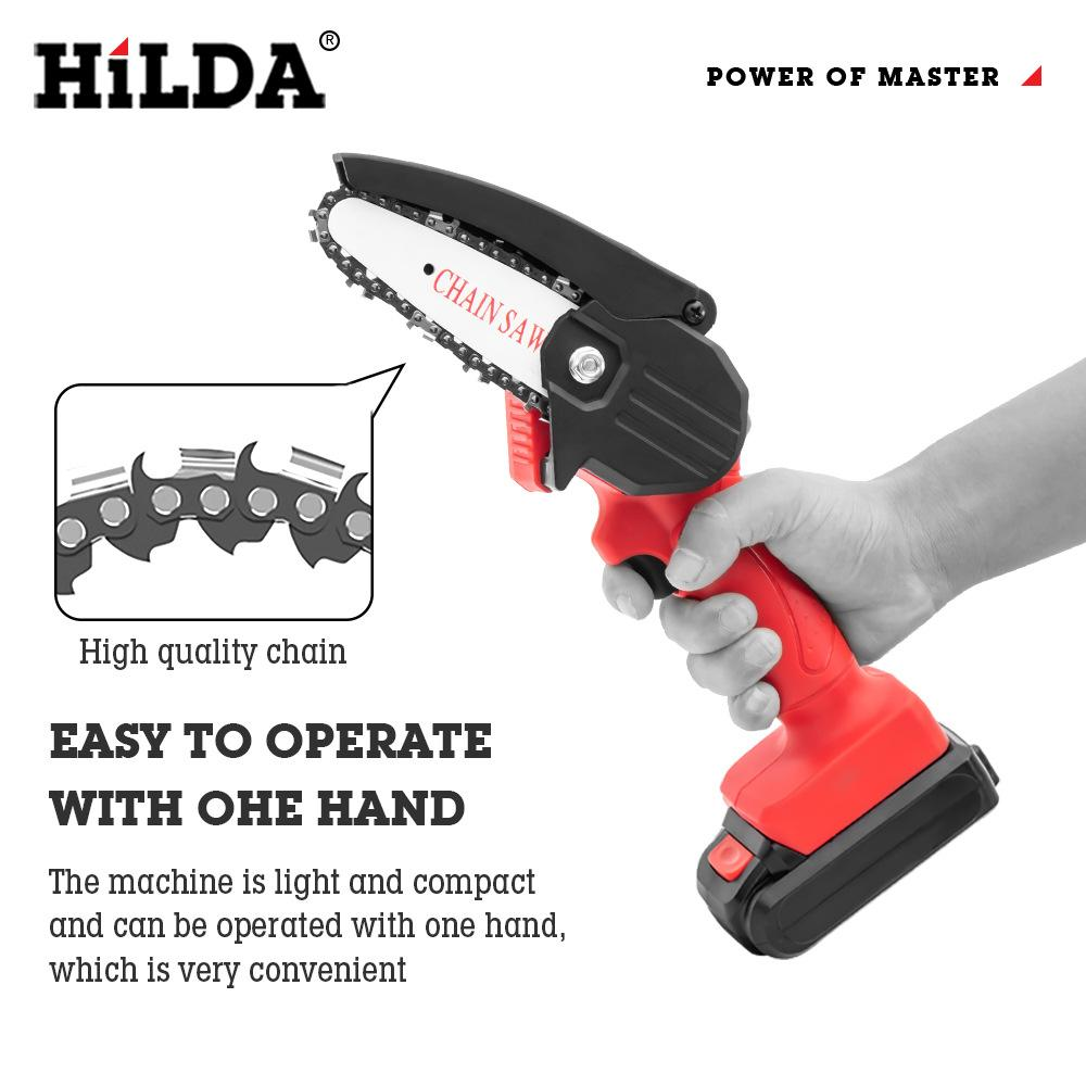 HiLDA Rechargeable MINI Wood Cutting lithium chainsaw