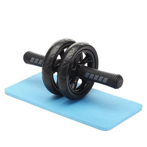 Double wheel ab roller and blue mat