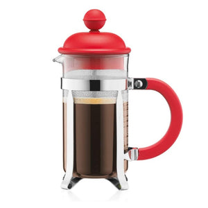BODUM Caffettiera French Press Coffee Maker, Red, 0.35 l, 12 oz