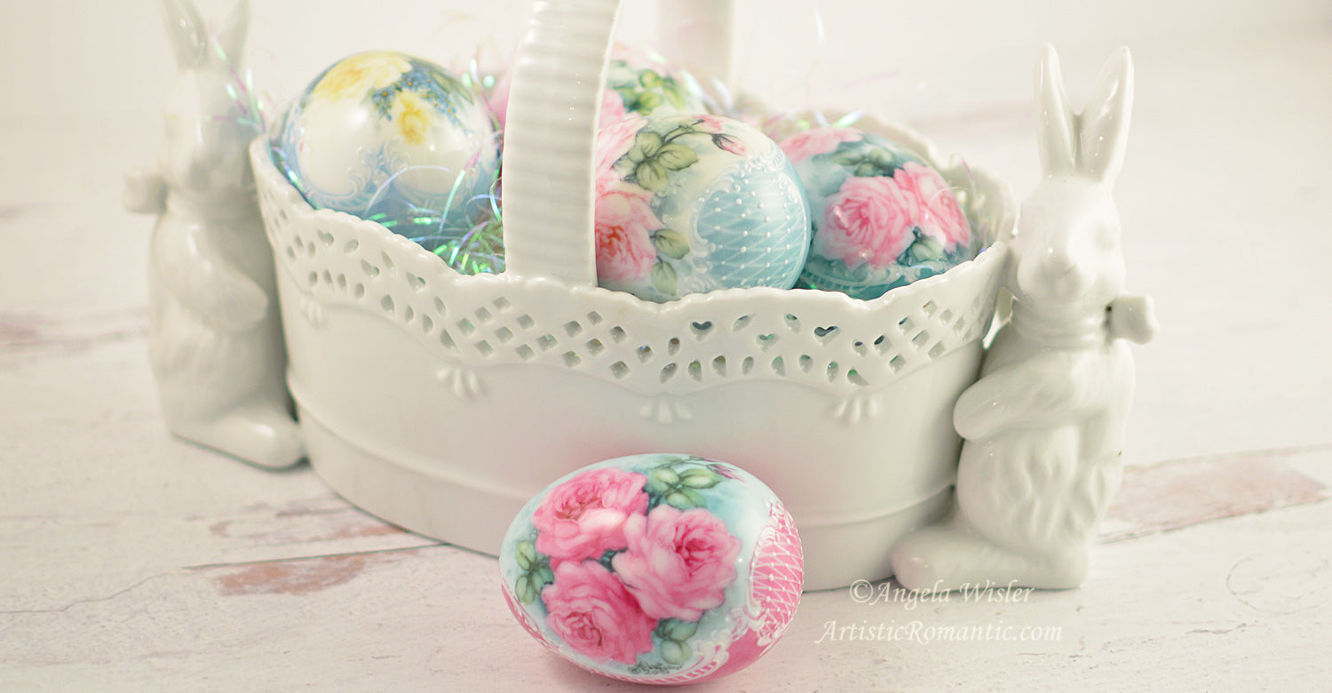 Hand Painted Victorian Easter Eggs