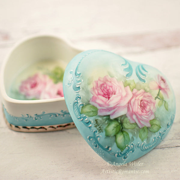Hand Painted Pink Roses Porcelain Painting Lessons How to China Painter