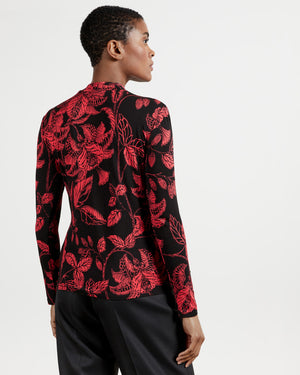 ABYIAAH ROCOCO PRINTED FITTED TOP