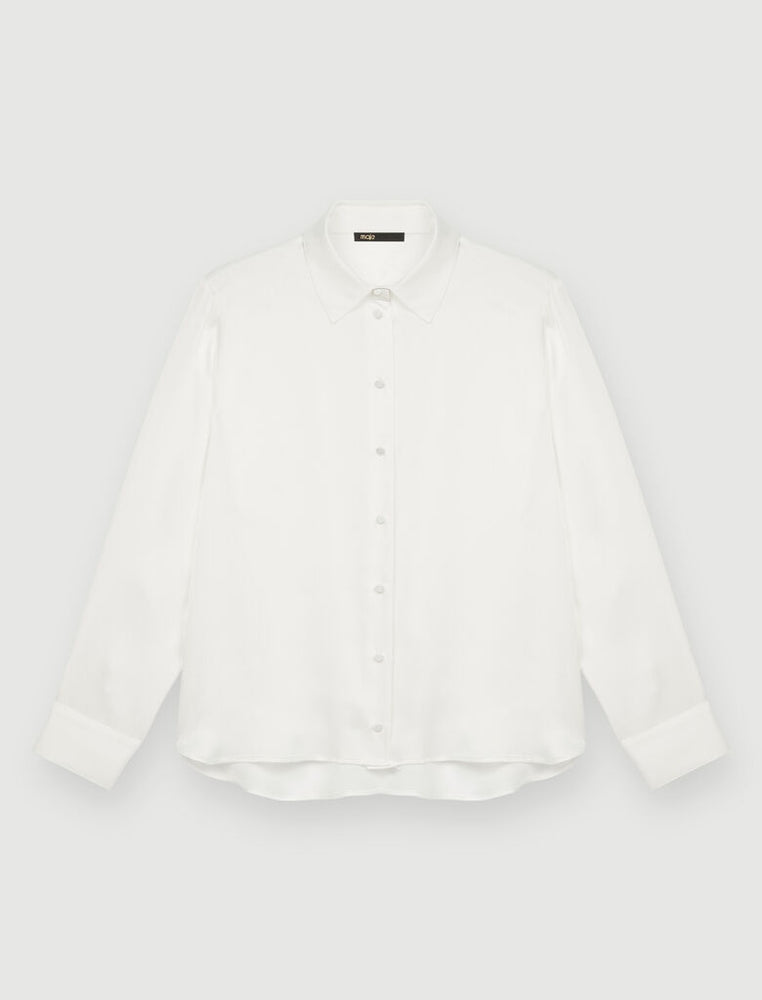 Load image into Gallery viewer, WHITE SILK SHIRT