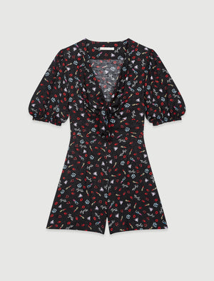 Load image into Gallery viewer, PRINTED JACQUARD TIE PLAYSUIT