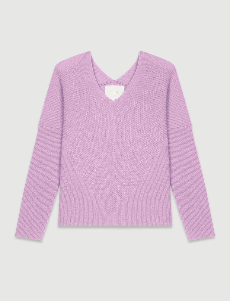 Load image into Gallery viewer, V-NECK CASHMERE SWEATER