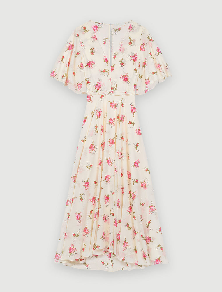 Load image into Gallery viewer, ASYMMETRIC DRESS IN PRINTED MUSLIN