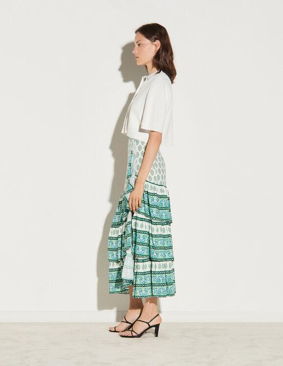 Load image into Gallery viewer, SKIRT WITH LAYERED RUFFLES