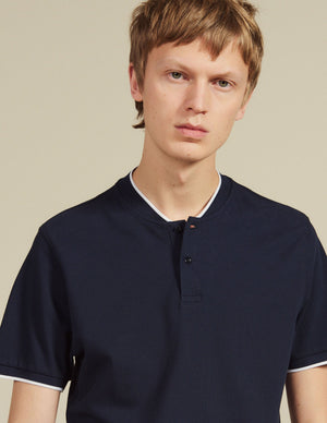 POLO SHIRT WITH CONTRASTING COLLAR
